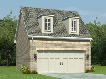 Garage Plan with Loft, 006G-0019