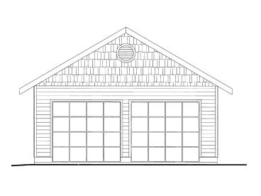 Two-Car Garage Plan, 012G-0068