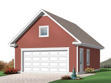 Two-Car Garage Plan, 028G-0033