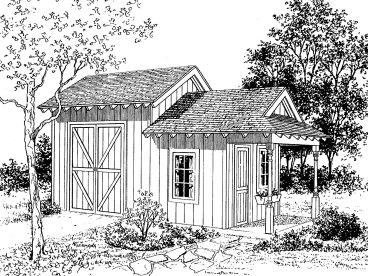 Storage Shed Plan, 057S-0006