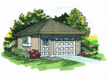 1 Car Garage Plan, 033G-0002