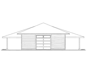 Drive-Thru Garage Plan, 012G-0060