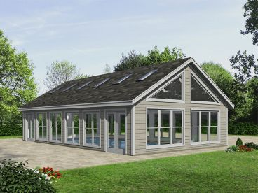 Pool House Plan, 062P-0010