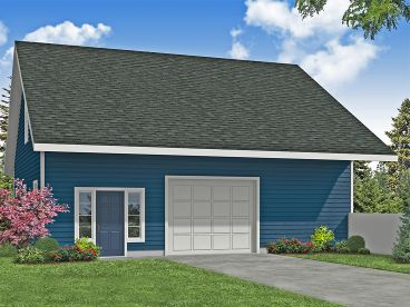Garage Plan with Storage, 051G-0132