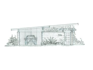 Carport Plan with Flex Space, 085G-0001