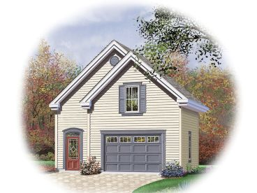 2-Car Garage Loft Plan, 028G-0036