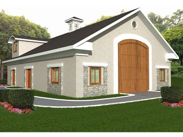 Garage Apartment Plan, 012G-0034