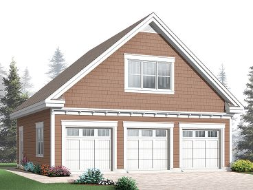 3-Car Garage Loft Plan, 028G-0039