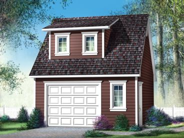 Garage Plan with Loft, 072G-0018