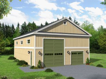 Drive-Thru RV Garage Plan, 062G-0121