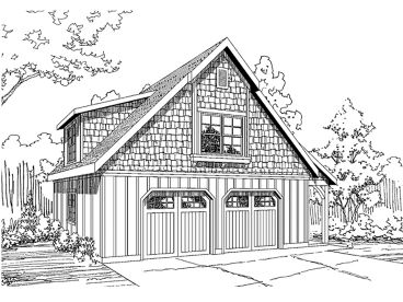 Garage Workshop Plan, 051G-0054