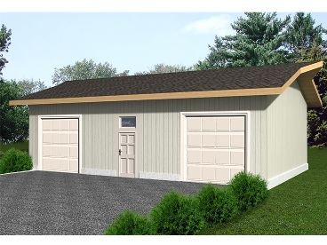 Garage Plan with Storage, 012G-0040