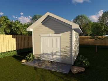 Storage Shed Plan, 050S-0010