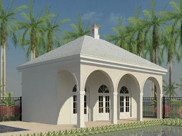 Pool House Design, 006P-0028