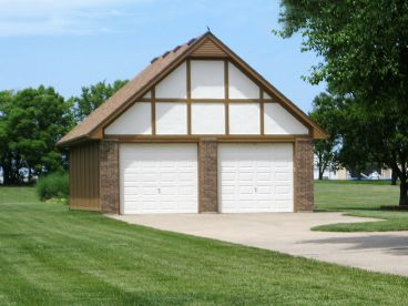 2-Car Garage Plan, 009G-0006