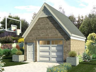 1-Car Garage Design, 006G-0011