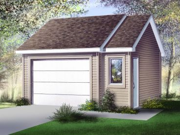 Detached Garage Plan, 072G-0013