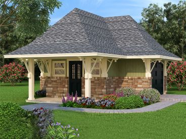One-Car Garage Plan, 021G-0002