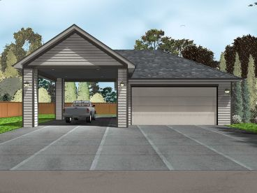 Garage plans with carports the garage plan shop for 4 car carport plans