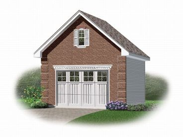 1-Car Garage Plan, 028G-0004