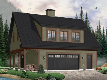 Carriage House Plan, 027G-0006
