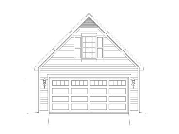 2-Car Garage Loft Plan, 062G-0015