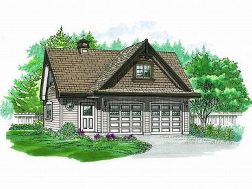 2-Car Garage Loft Plan, 033G-0027