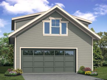 Garage Plan with Flex Space, 051G-0108