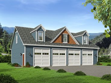 8-Car Garage Plan, 062G-0051