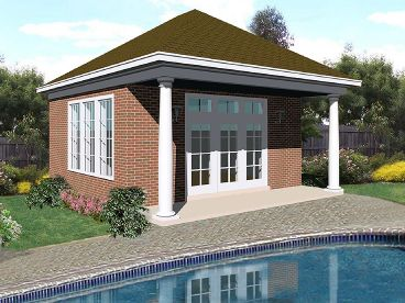 Garage pool house combo plans house design plans for Pool house plans with garage