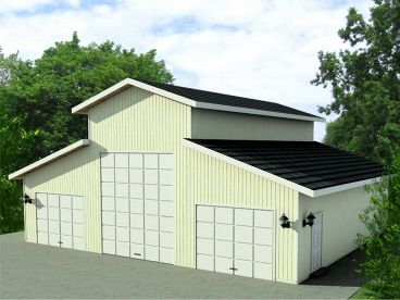 Unique Outbuilding Plan, 012B-0005