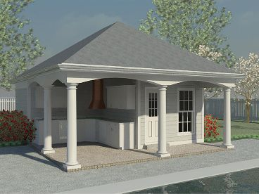Plan 006p 0006 garage plans and garage blue prints from for Pool house plans with garage