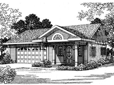 Garage Plan with Office, 057G-0030