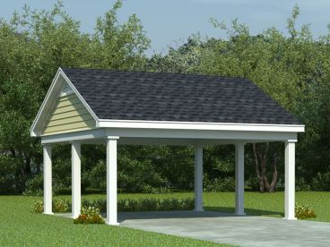 2-Car Carport Plan, 006G-0006