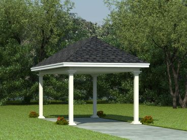 1-Car Carport Plan, 006G-0002