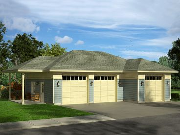 Garage Plan with Boat Storage, 051G-0097
