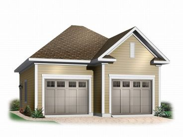 Garage plans and garage blue prints from the garage plan shop for Small garage plans free