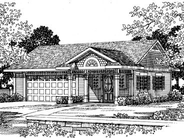 Two-Car Garage Plan, 057G-0026