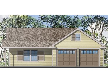 garage with flex space 051g 0068 - Garage House Plans