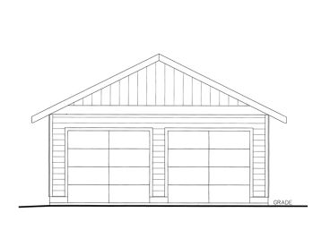Two-Car Garage Plan, 012G-0122