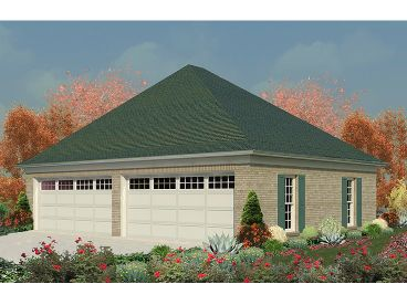 4 Car Garage Plan, 006G-0077