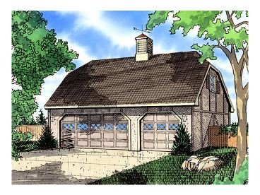 3 Car Garage Plan, 009G-0002