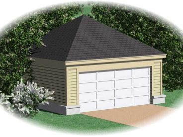 Double Garage Plan, 006G-0013