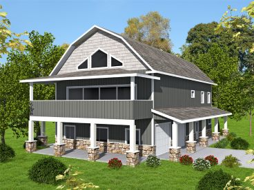 Garage Apartment Plan, 012G-0136