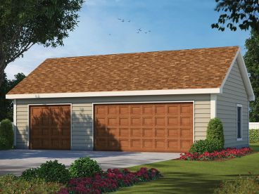 Three-Car Garage Plan, 031G-0012