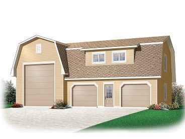 RV Garage Plan, 028G-0048