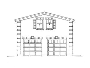 2-Car Garage Loft Plan, 010G-0016