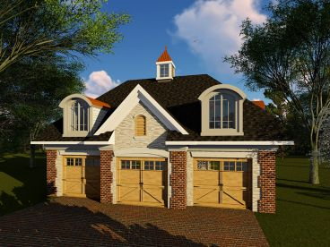 3-Car Garage Loft Plan, 020G-0006