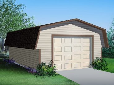 Detached Garage Plan, 072G-0002
