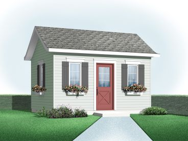 Garden Shed Plan, 028S-0001